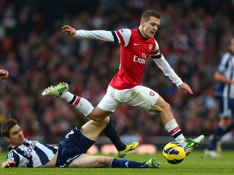Wilshere: Back in action against West Brom