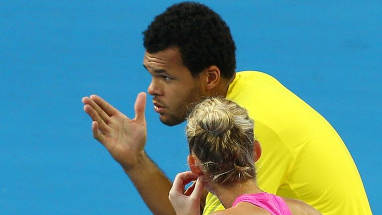 Jo-Wilfried Tsonga: Frenchman chats to Mathilde Johansson