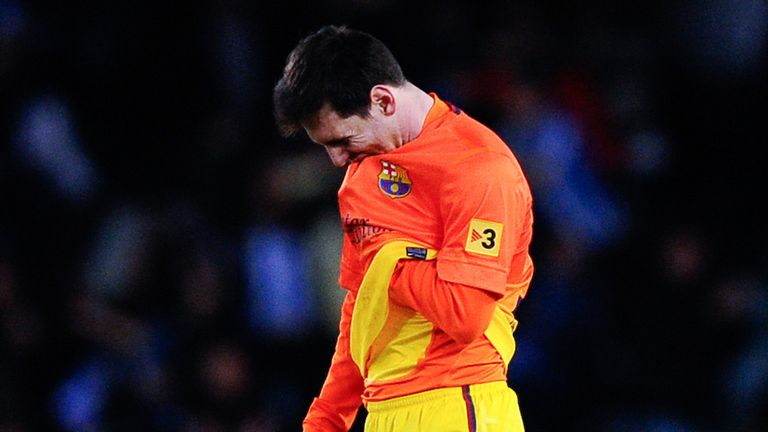 Messi: Dejected after defeat