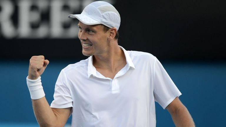 Tomas Berdych: The Czech star proved too hot for Stanislas Wawrinka