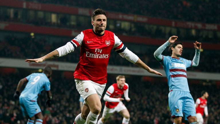 Olivier Giroud: Arsenal striker enjoying life at the Emirates