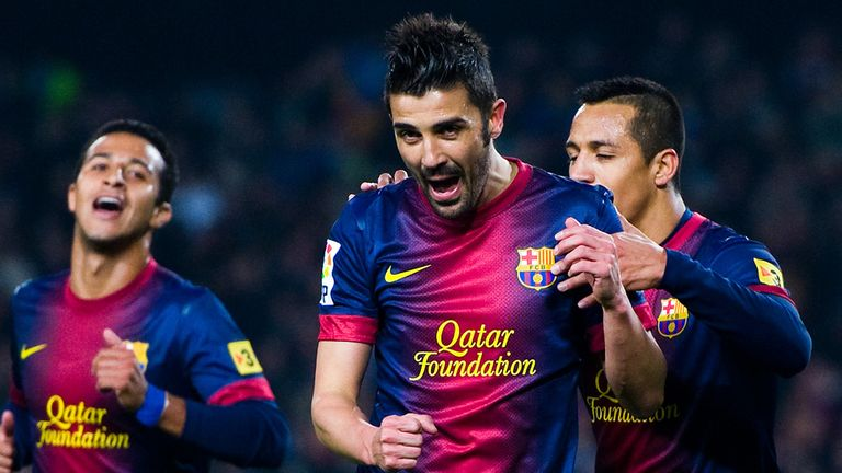 David Villa: Looks set to make the switch from Barca to Atletico Madrid