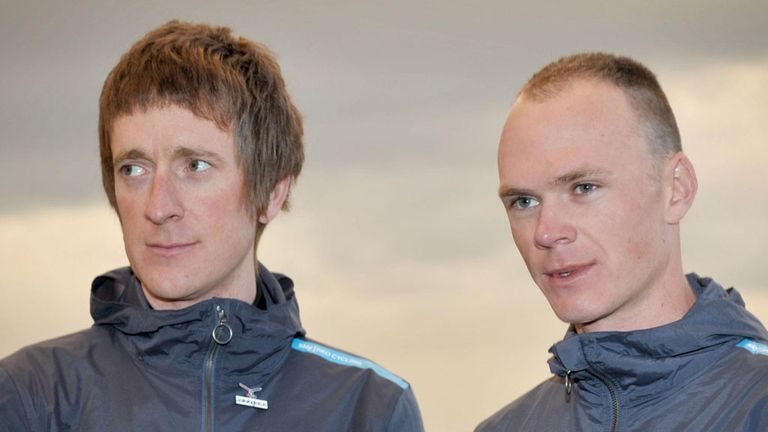Chris Froome, right, has been given the nod ahead of Sir Bradley Wiggins, left, to lead Team Sky at the Tour de France
