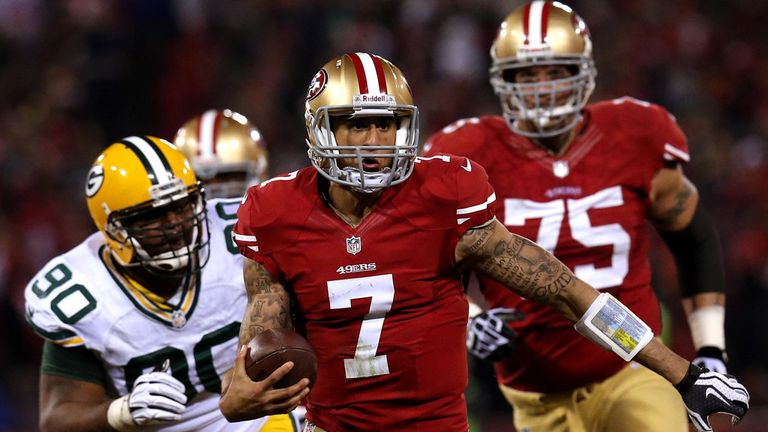 Colin Kaepernick: Was unstoppable against the Green bay Packers