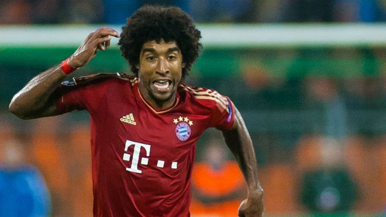 Dante: The Brazilian centre-back hopes to knock Arsenal out of the Champions League
