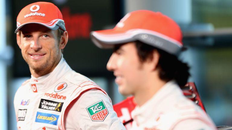 McLaren team-mates Jenson Button and Sergio Perez