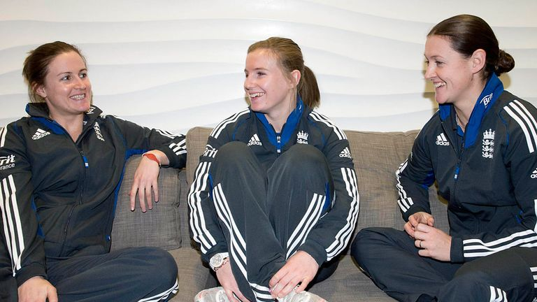 Lydia Greenway, Holly Colvin and Arran Brindle: share a wealth of World Cup experience