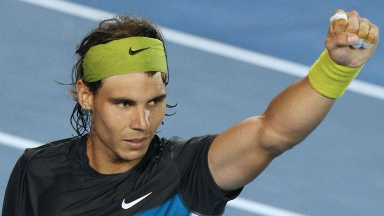 Rafael Nadal: held off a strong and determined Fernando Verdasco to win in 2009