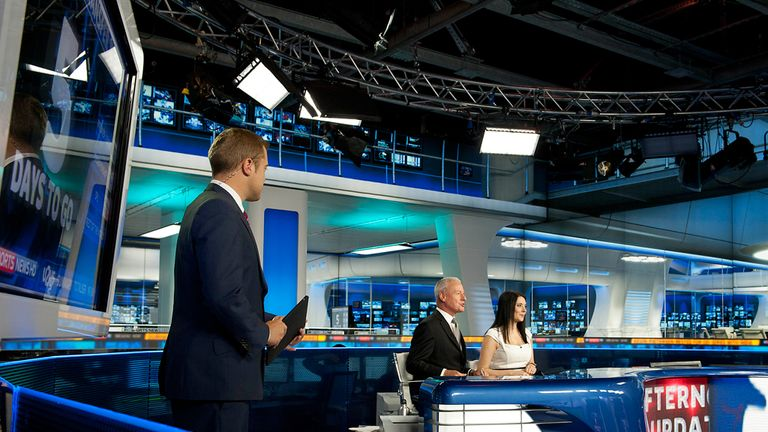 Sky Sports News HD: a hive of activity on Deadline Day