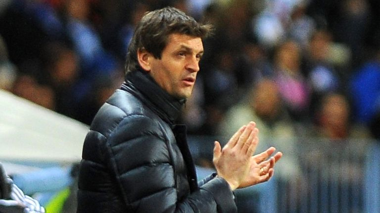 Tito Vilanova: Has travelled to Paris for Champions League tie
