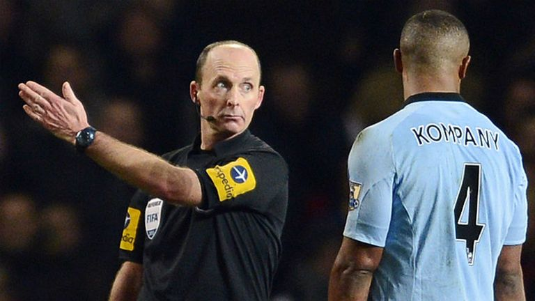 Vincent Kompany: Sent off by referee Mike Dean 76 minutes into Manchester City's 2-0 win at Arsenal.