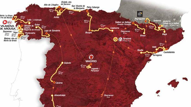 Vuelta: 2013 route (Credit: Unipublic)