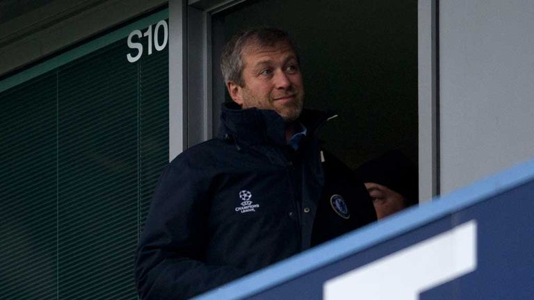 Roman Abramovich: Chelsea owner watches the 2-1 win over Arsenal