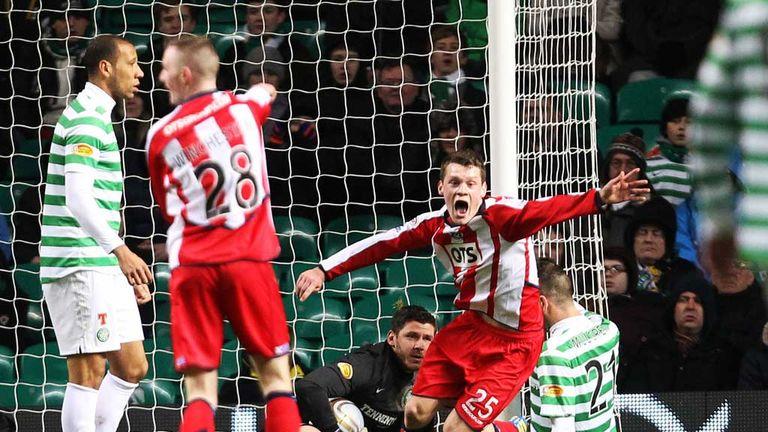 Ross Barbour: Kilmarnock teenager appeals for a goal against Celtic
