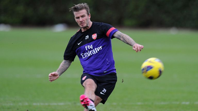 David Beckham: Trained with Arsenal recently to boost his fitness levels
