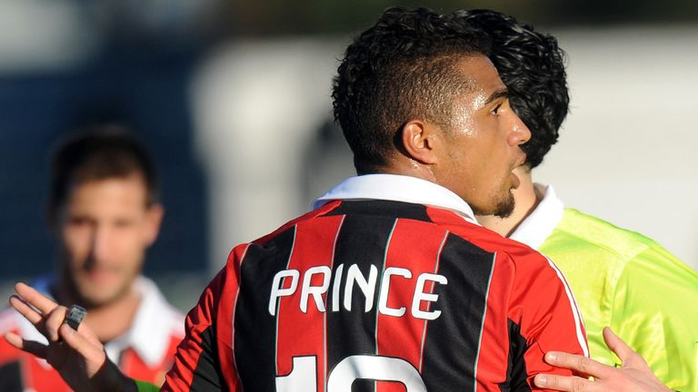 Kevin-Prince Boateng: Milan midfielder during Pro Patria game