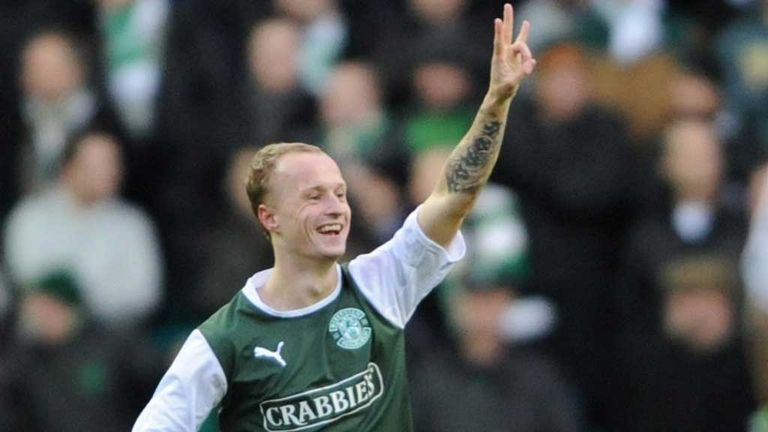 Leigh Griffiths: Hibernian striker styarted against Aberdeen