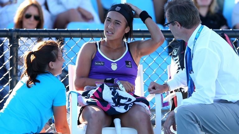 Heather Watson: Capitalised on a lengthy timeout to win through