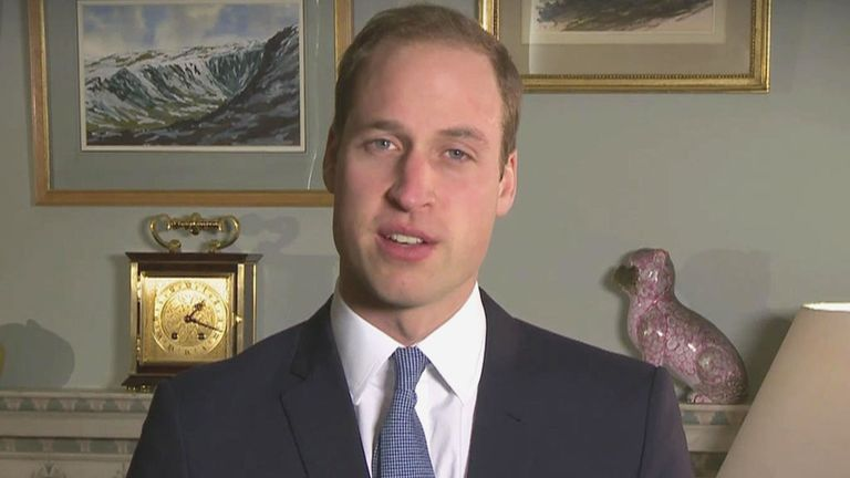 England manager Roy Hodgson has thanked Prince William for his support of the national team