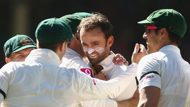Nathan Lyon: Australia spinner completed third Test five-wicket haul with final ball of the day