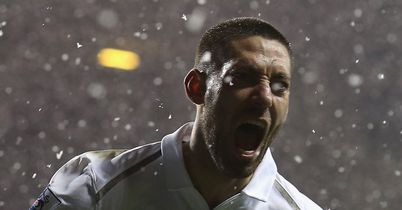 Dempsey: Celebrates late equaliser for Spurs