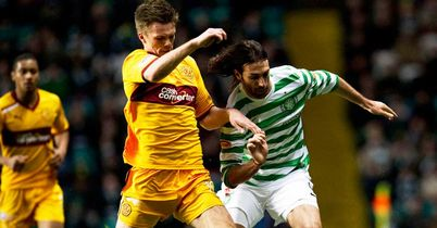 Fraser Kerr: In action against Celtic