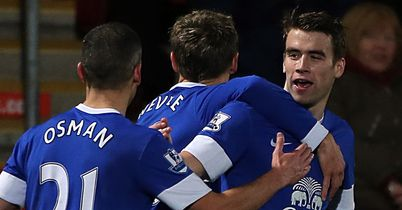 Coleman: Celebrates goal for Everton