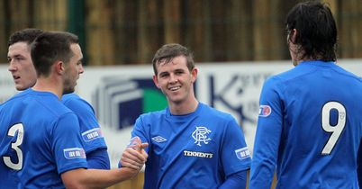 Templeton: Celebrates goal for Rangers