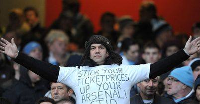 Fan protests against the price of match tickets