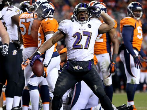 Ray Rice: Led the Ravens attack on the ground