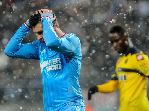 It was a grim start to 2013 for Marseille in the snow