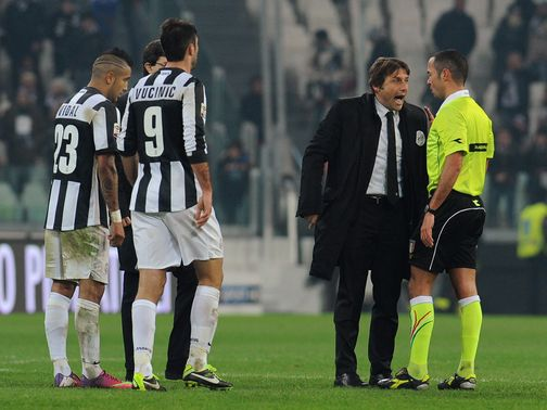 Antonio Conte fumes at the ref after the final whistle