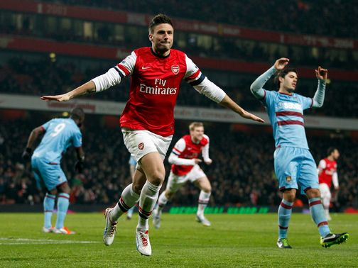 Olivier Giroud: Pleased with his start at Arsenal