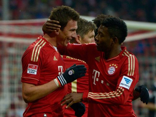 Mario Mandzukic scored two goals for Bayern Munich