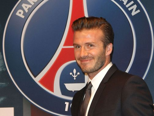 Beckham: Stole the limelight