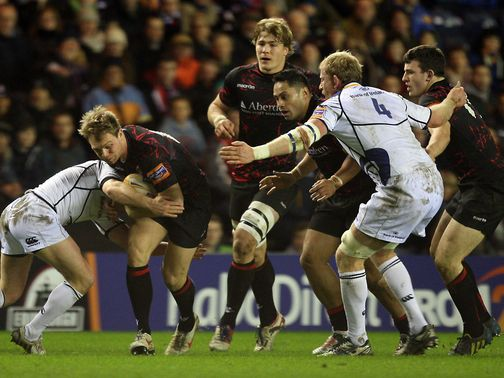 Greig Tonks in action for Edinburgh