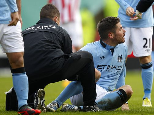 Javi Garcia was floored by Whelan's challenge