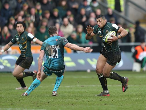 Luther Burrell: Scored one of Northampton's two tries