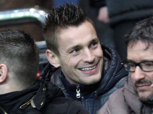 Mathieu Debuchy in the crowd on Wednesday night