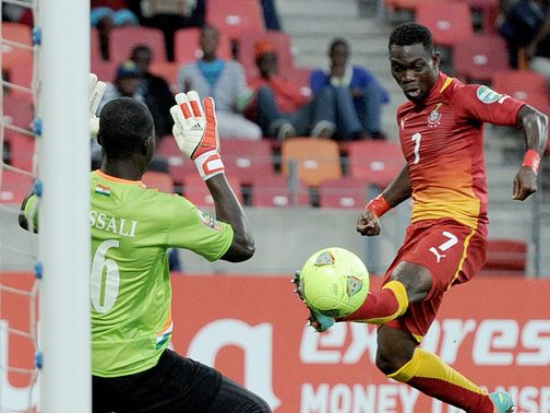 Christian Atsu finds the net for Ghana