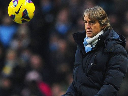 Mancini: Hoping to close the gap on Manchester United