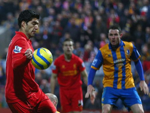 Luis Suarez: Handled before scoring at Mansfield