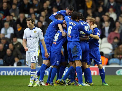 Birmingham celebrate against Leeds