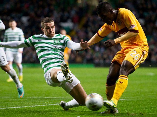 Adam Matthews tackles Zaine Francis Angol
