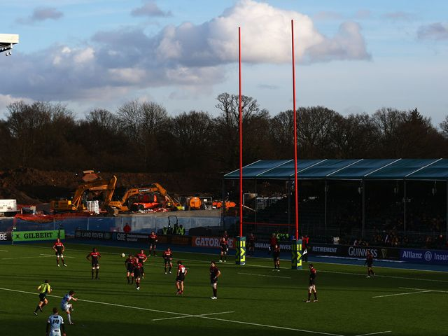 The scene at Allianz Park on Sunday