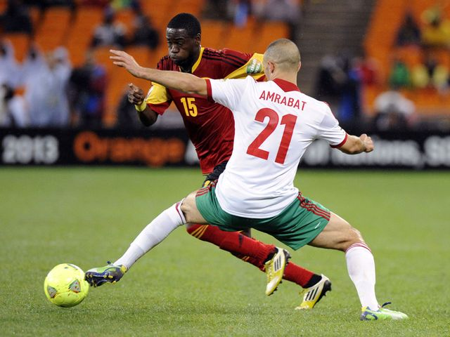 Miguel tries to get past Nordin Amrabat