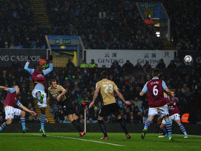James Hanson scores Bradford's equaliser on the night