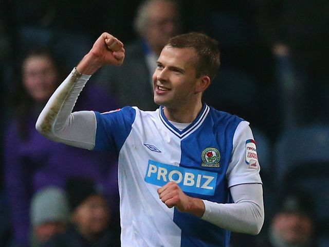 Jordan Rhodes: Scored in each half for Rovers