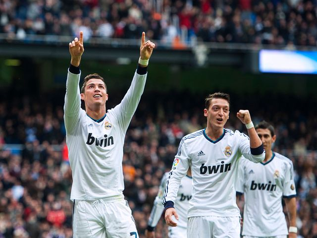 Ronaldo celebrates against Getafe
