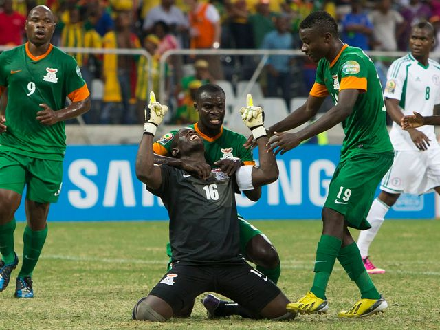 Kennedy Mweene scored a penalty for Zambia